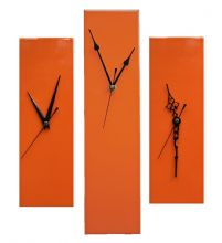 Contemporary Slim Wall Clock ORANGE 30cm or 40cm